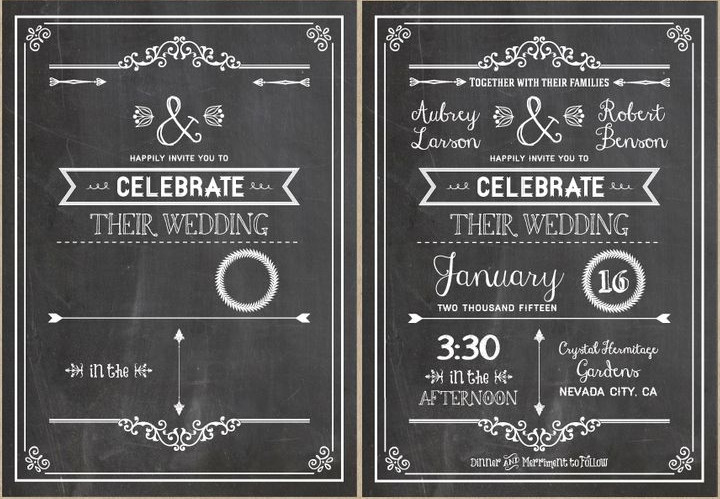 Chalkboard Invitation Template Free Diy Wedding Invitations Our Favorite Free Templates