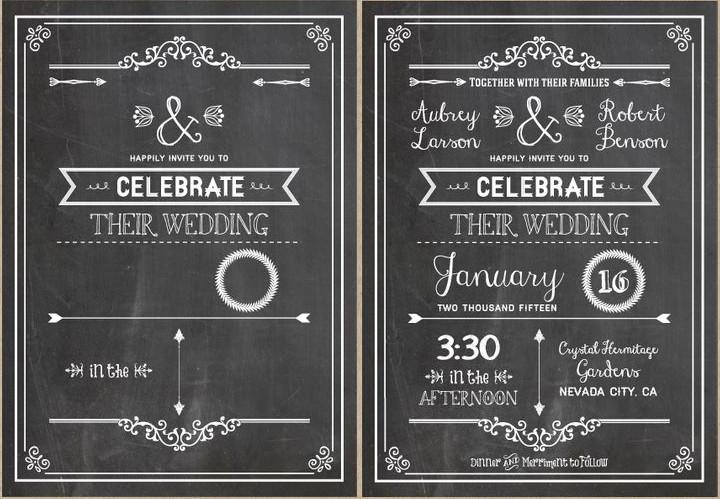Chalkboard Invitation Template Free Diy Wedding Invitations Our Favorite Free Templates
