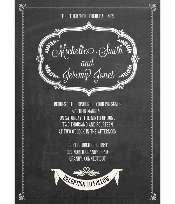 Chalkboard Invitation Template Free Invitation Template 15 Free Psd Vector Eps format
