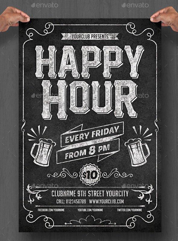 Chalkboard Poster Template Free 20 Cool Chalkboard Flyer Templates Print