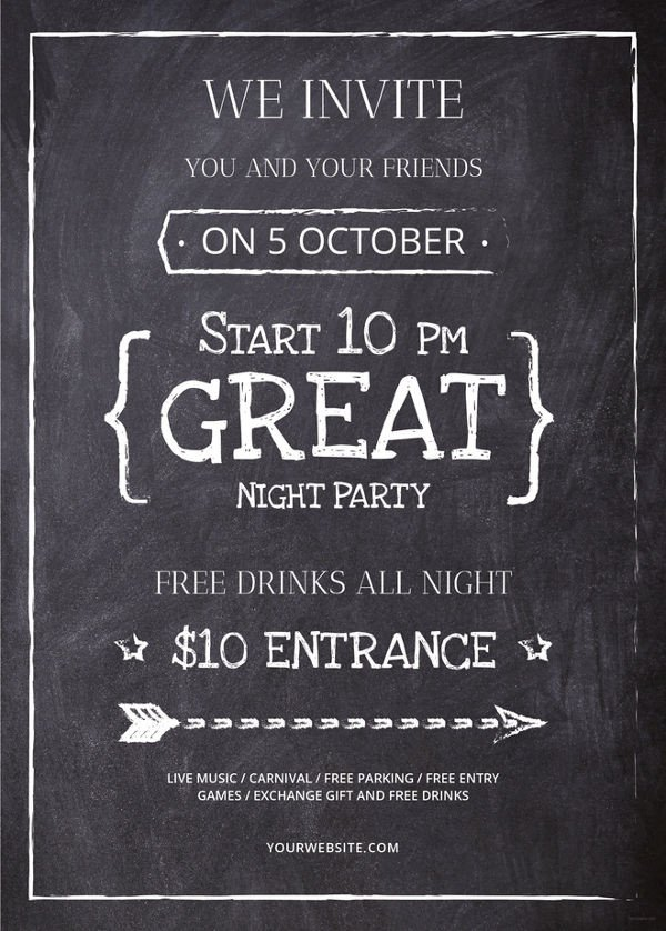 Chalkboard Poster Template Free 34 Design Flyers Free Psd Ai Vector Eps format