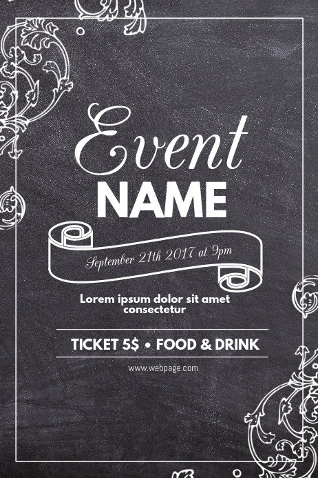 Chalkboard Poster Template Free Copy Of Chalk event Flyer Template