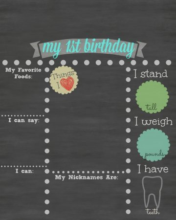 Chalkboard Poster Template Free Free Printable First Birthday Chalkboard Sign Babycenter