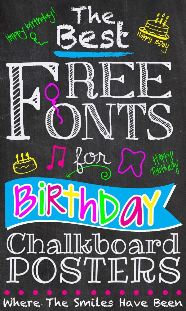 Chalkboard Poster Template Free the Best Free Fonts for Birthday Chalkboard Posters