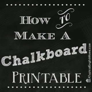 Chalkboard Template Microsoft Word A Typical English Home How to Turn Your Handwriting Into