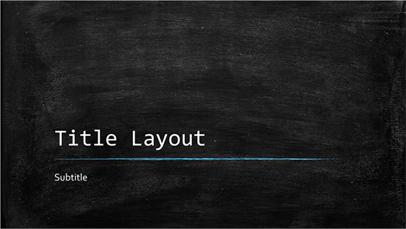 Chalkboard Template Microsoft Word Chalkboard Education Presentation Widescreen