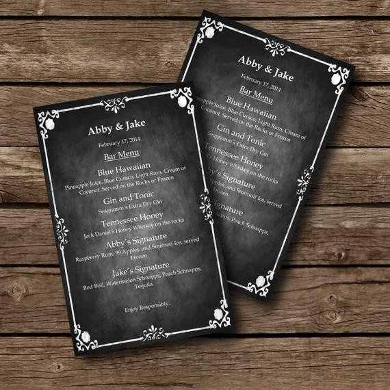 Chalkboard Template Microsoft Word Editable Menu Template Chalkboard Style Word Document