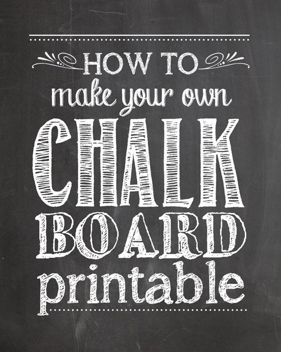 Chalkboard Template Microsoft Word How to Make Your Own Chalkboard Printables How to Nest
