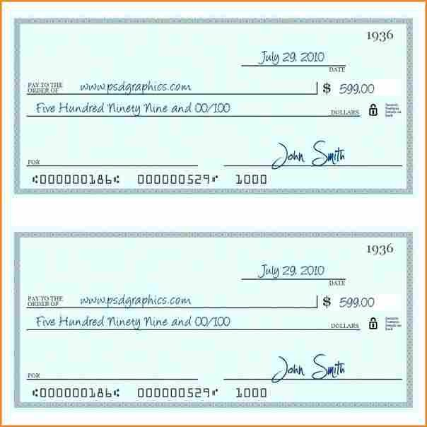 Check Printing Template Excel 10 Payroll Check Printing Template