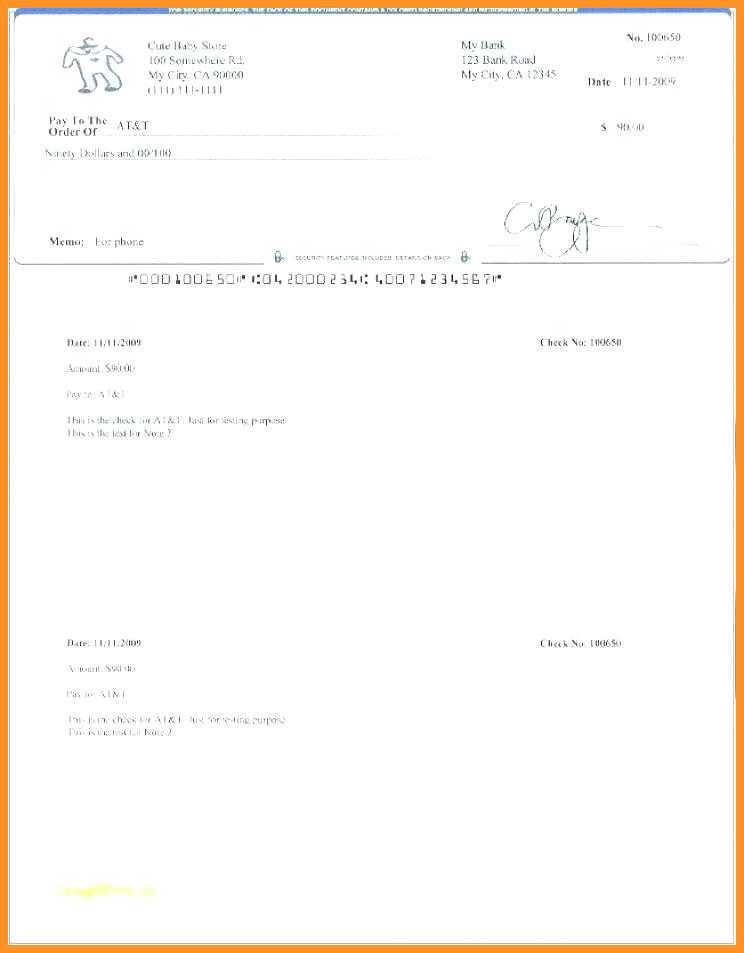 Check Printing Template Excel 11 12 Check Printing Template Excel
