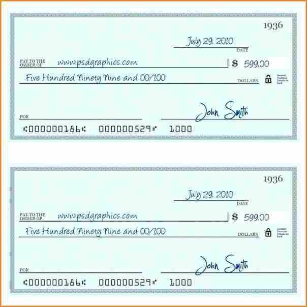 Check Printing Template Word 10 Payroll Check Printing Template
