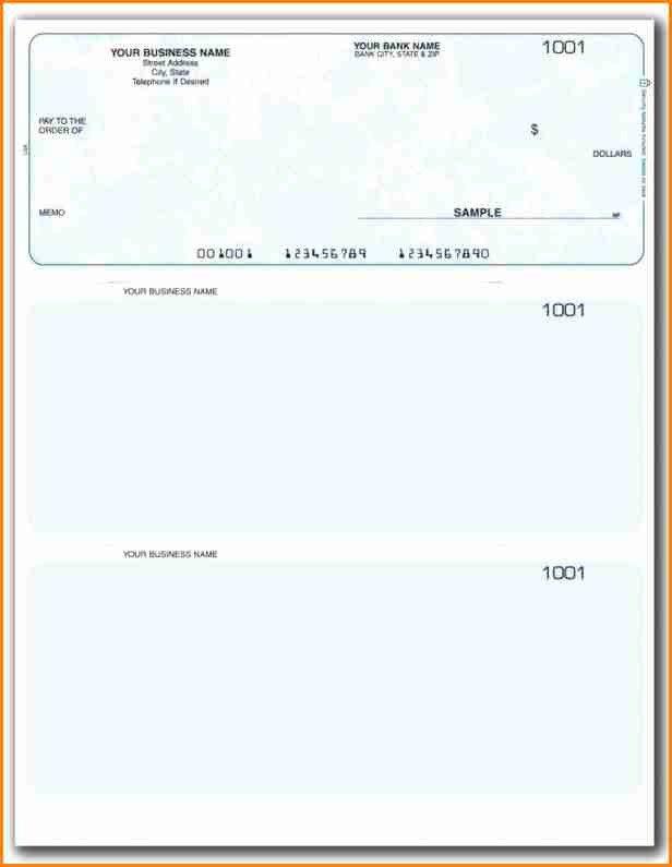 Check Printing Template Word 11 Payroll Checks Templates