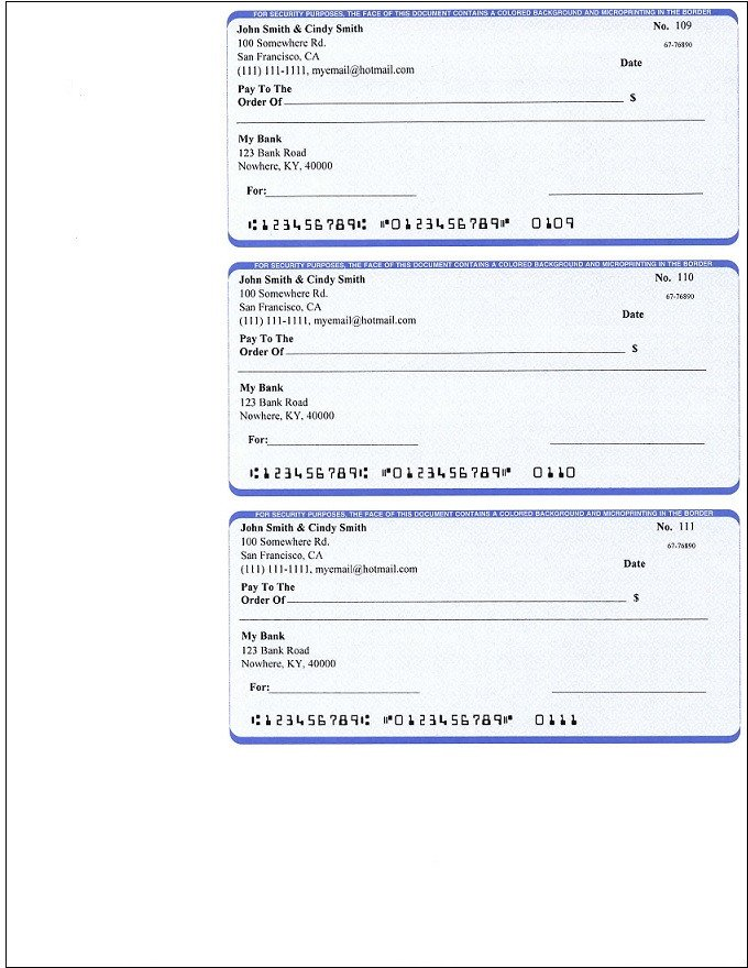 Check Printing Template Word Ezcheckpersonal Makes It Easy to Print Pocket Sized