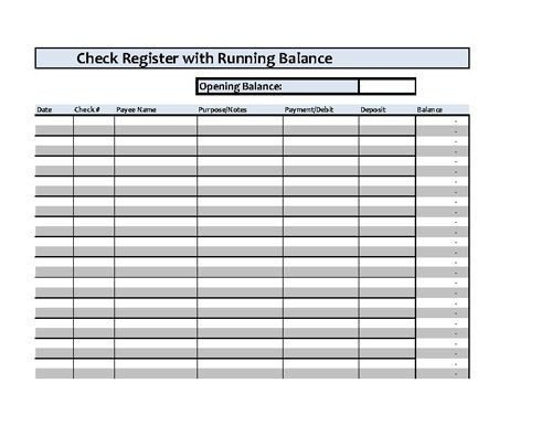 Check Register Template Excel Best 25 Checkbook Register Ideas On Pinterest
