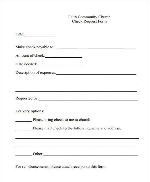 Check Request form Template 29 Sample Check Request form
