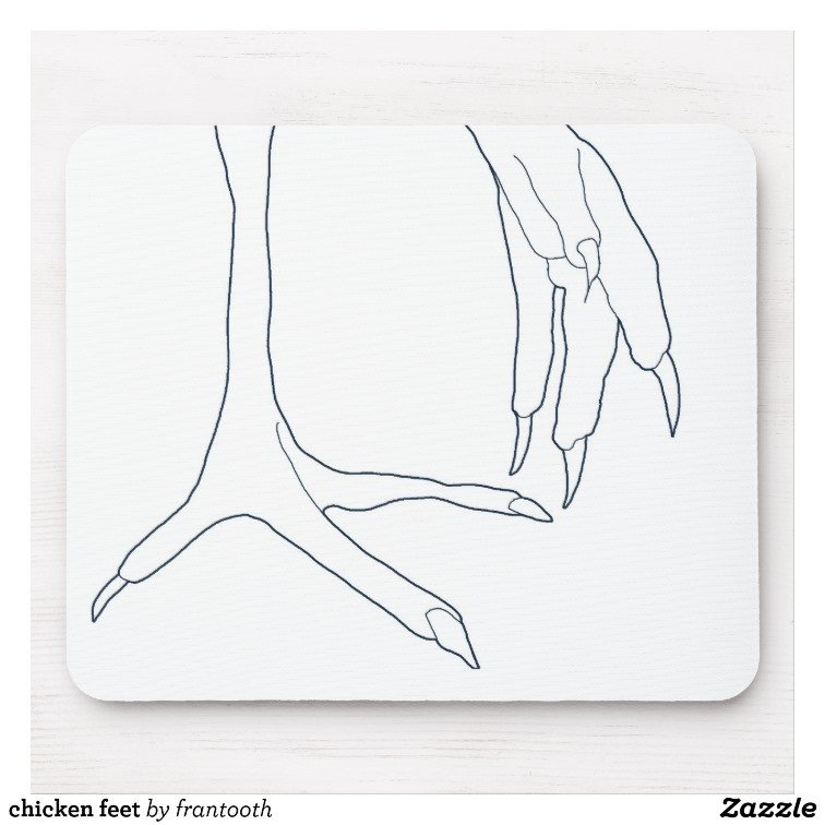 Chicken Feet Template Chicken Feet Mouse Pad
