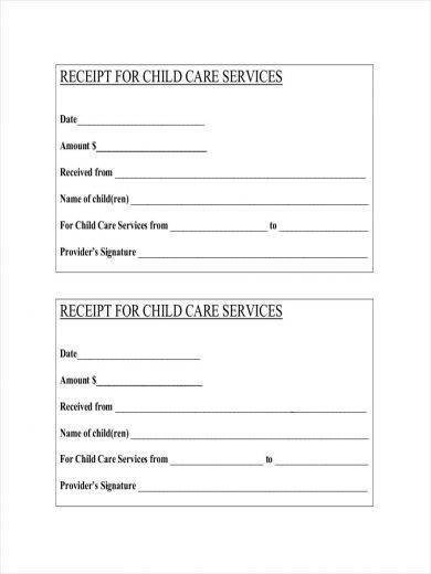 Child Care Receipt Template 11 Daycare Receipt Samples and Templates Pdf Word