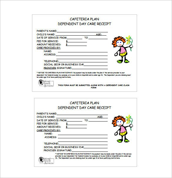 Child Care Receipt Template Receipt Template Doc for Word Documents In Different Types