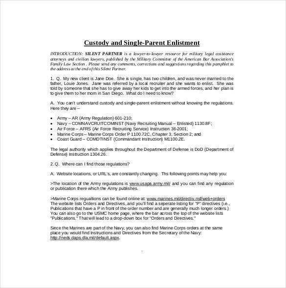 Child Custody Agreements Templates 11 Custody Agreement Templates – Free Sample Example