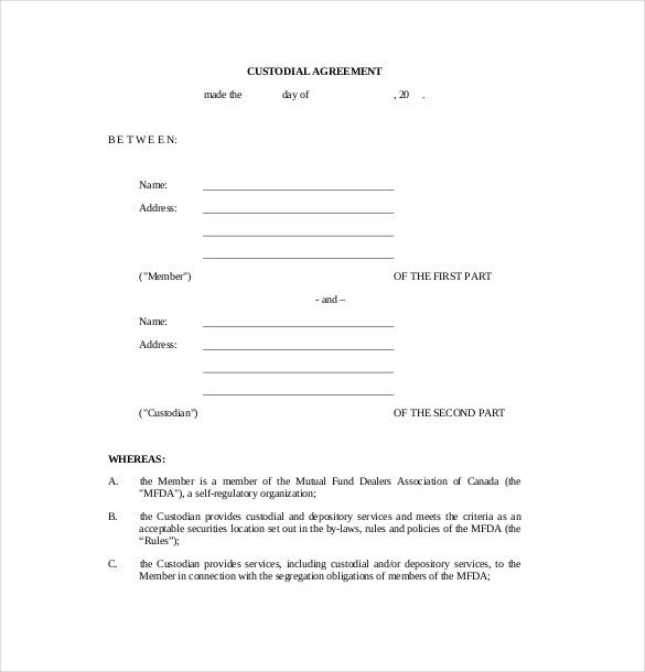Child Custody Agreements Templates Drug Testing Chain Custody form Template Templates