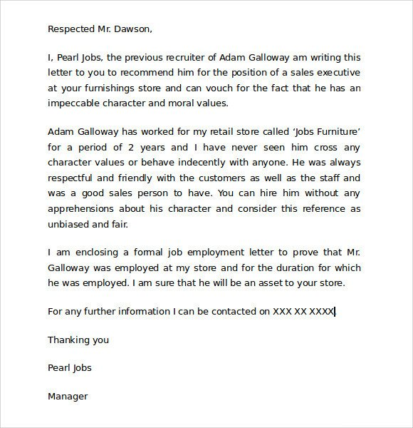 Child Custody Letter Template 9 Character Reference Letters for Court Samples Pdf Word