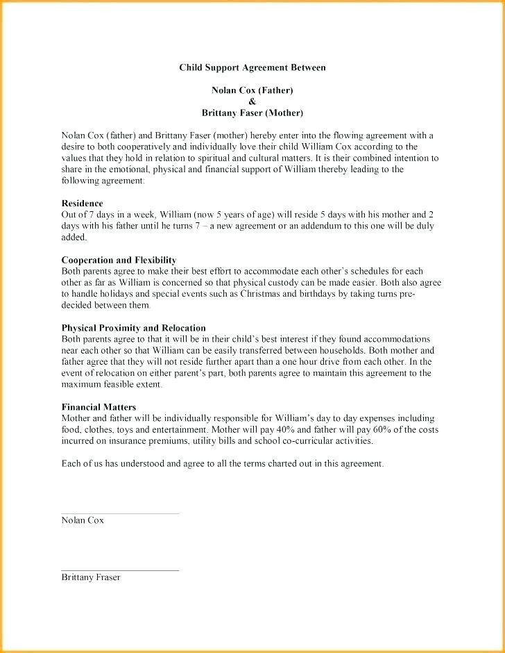Child Relocation Agreement Template Business Contract Agreement Template Loan India