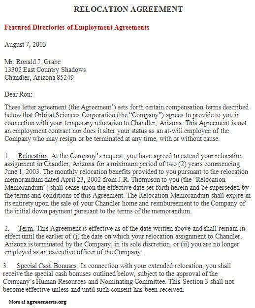 Child Relocation Agreement Template Relocation Agreements Download Pdf