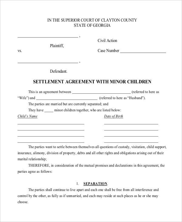 Child Support Agreement Sample 10 Child Support Agreement Templates Pdf Doc