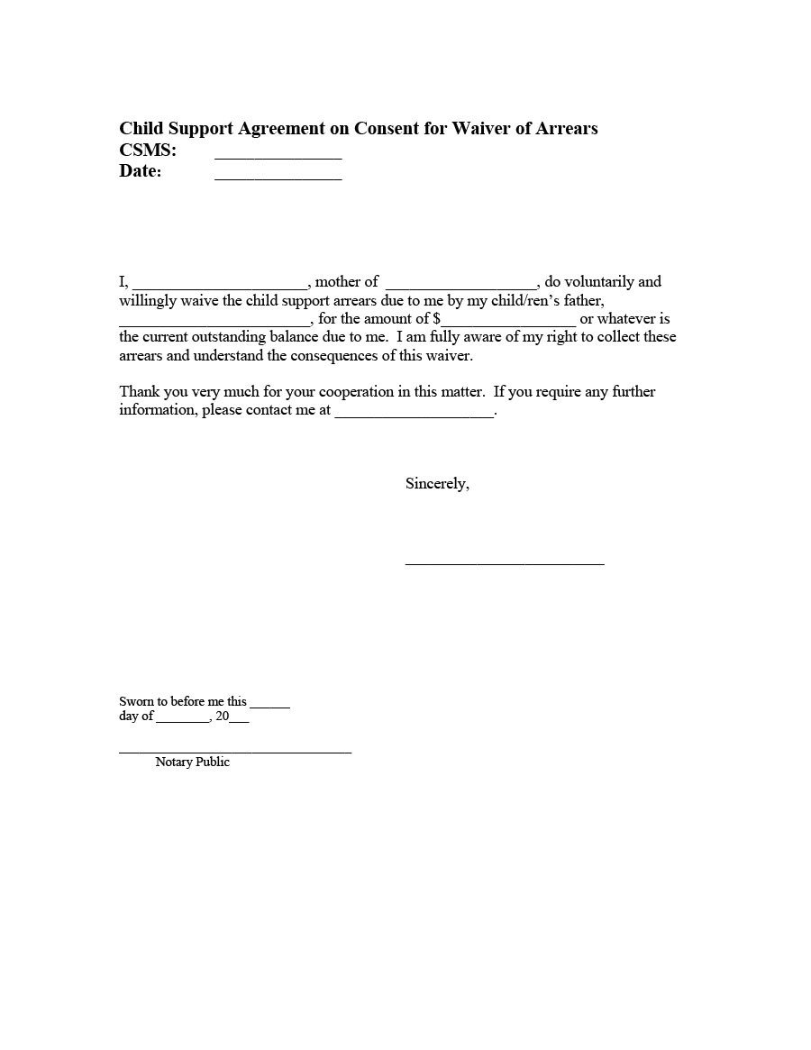 Child Support Agreement Sample 32 Free Child Support Agreement Templates Pdf & Ms Word