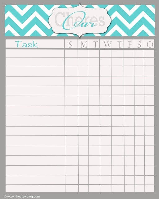 Chore Chart Templates Free Best 25 Weekly Chore Charts Ideas On Pinterest