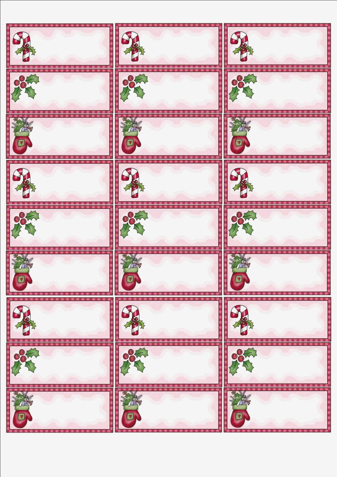 Christmas Address Labels Template 15 Simple but Important