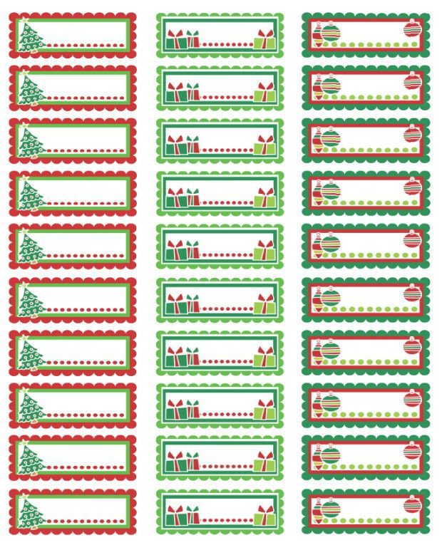 Christmas Address Labels Template Christmas Address Labels Colorful Christmas Labels In A