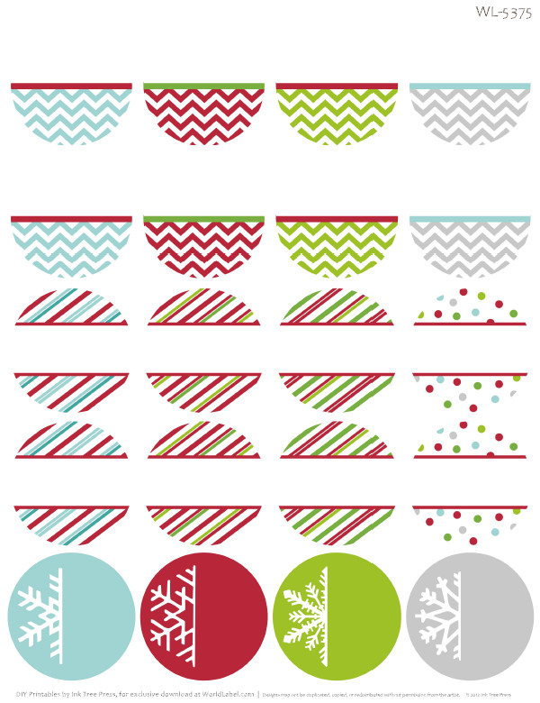Christmas Address Labels Template Free Printable Holiday themed Round Address Labels with