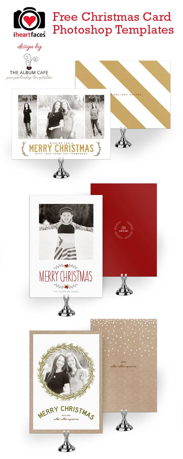 Christmas Card Photoshop Templates 50 Free Holiday Card Templates Moritz Fine Designs