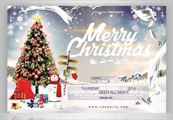 Christmas Card Photoshop Templates 78 Christmas Flyer Templates Psd Ai Illustrator Word