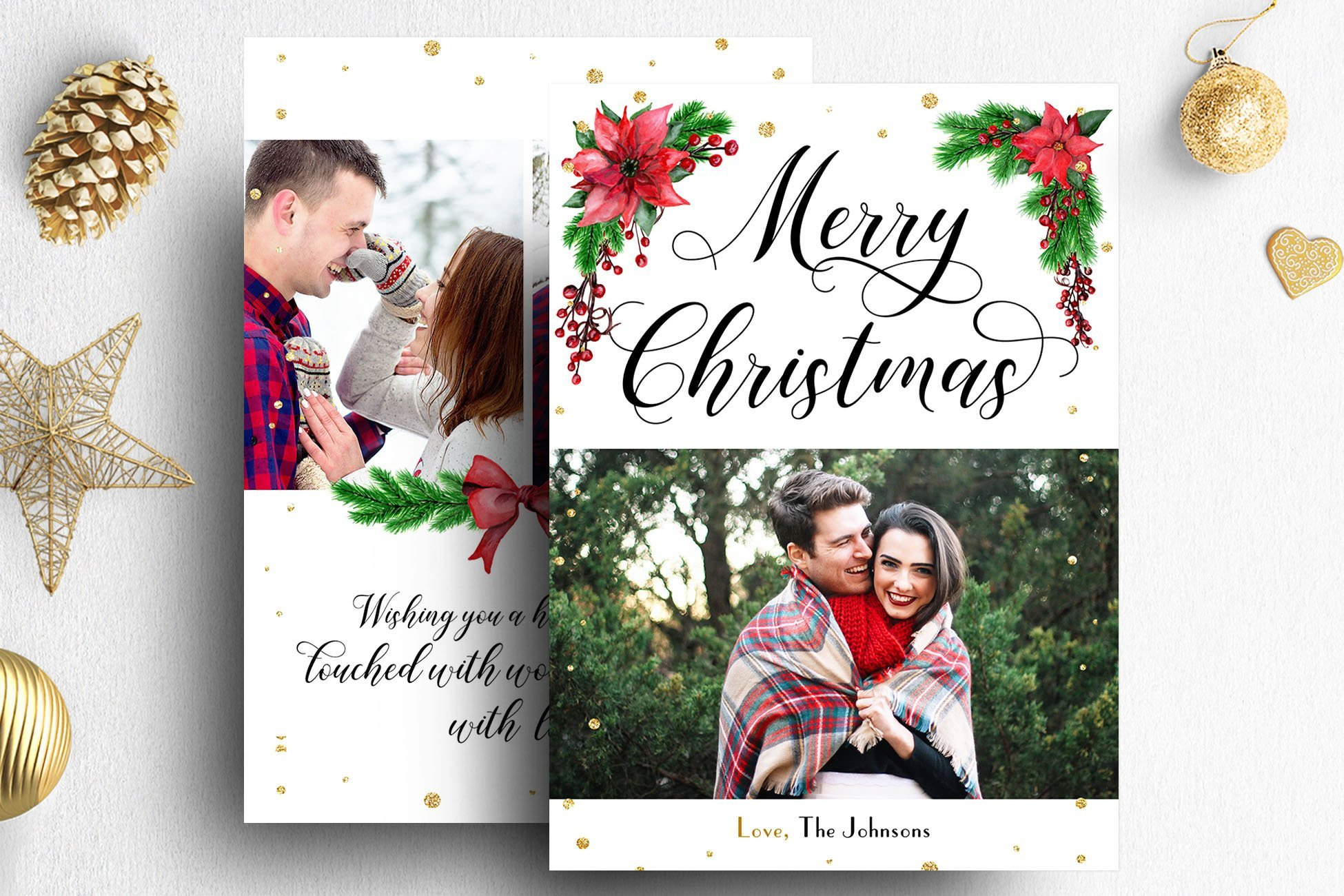 Christmas Card Photoshop Templates Christmas Card Shop Template Card Templates