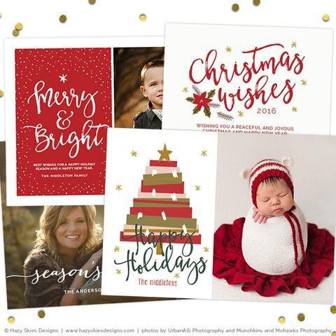 Christmas Card Photoshop Templates Christmas Card Templates