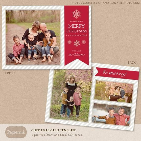 Christmas Card Photoshop Templates Digital Shop Christmas Card Template for Photographers