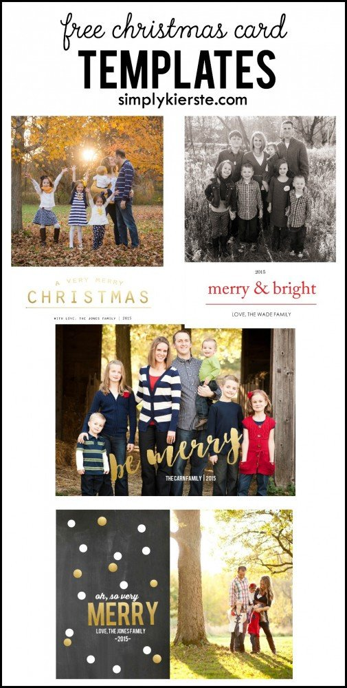 Christmas Card Photoshop Templates Free Christmas Card Templates
