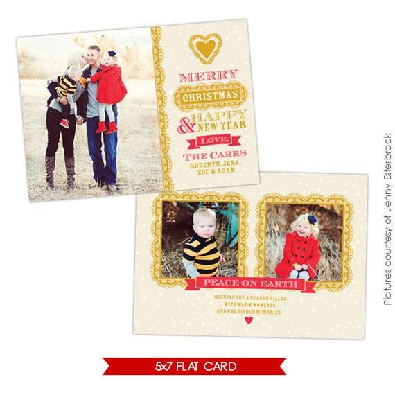 Christmas Card Photoshop Templates Psd Christmas Card Shop Template Chic Style E626