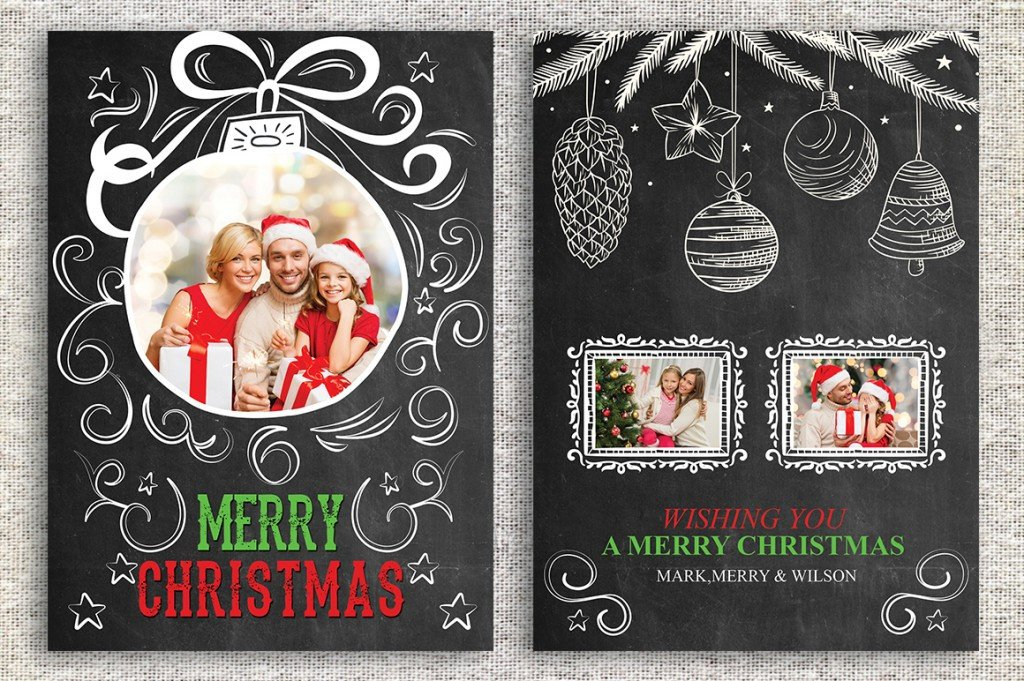 Christmas Card Photoshop Templates the Best Card Template Shop Fers Right now