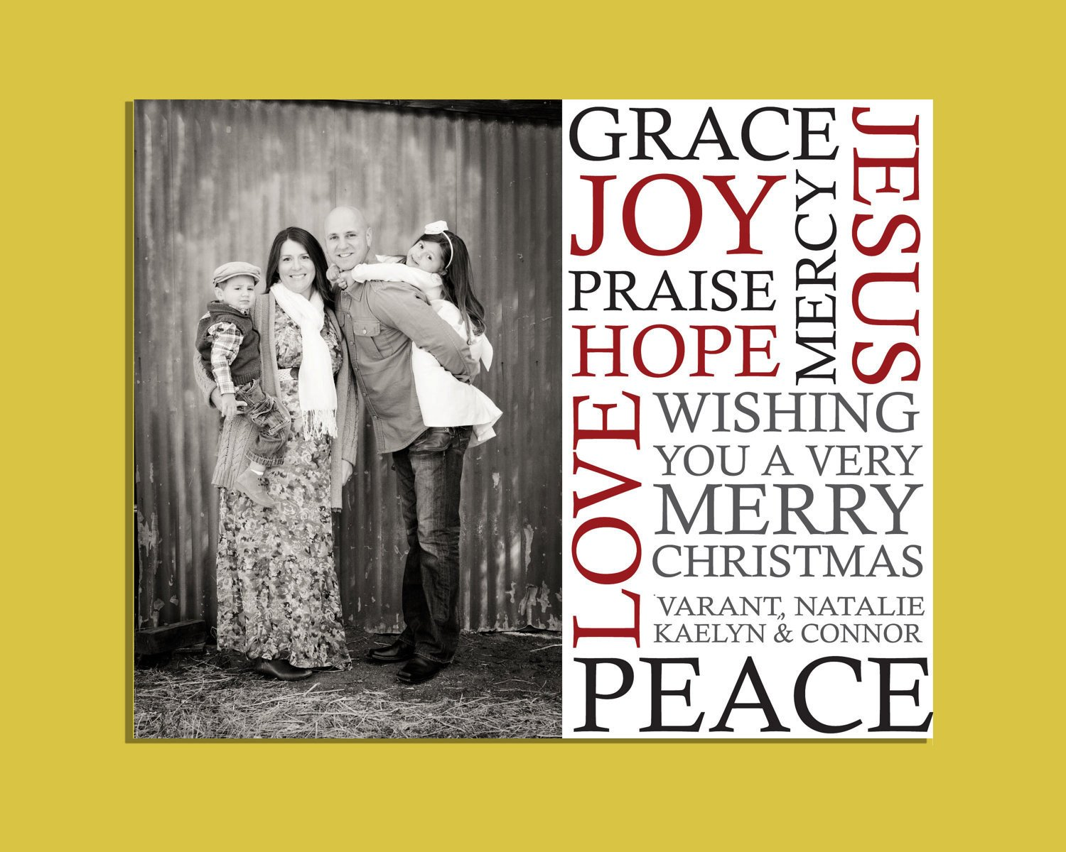 Christmas Card Template Photoshop 6x7 5 Subway Christmas Card Template Shop Sized for