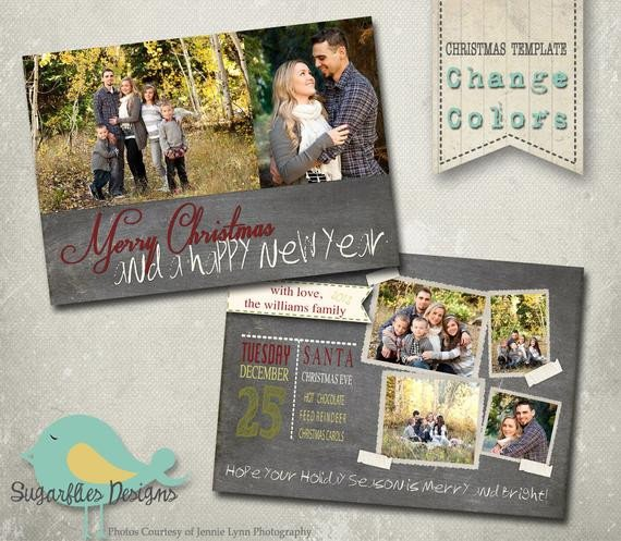 Christmas Card Template Photoshop Christmas Card Photoshop Template Family Christmas Card