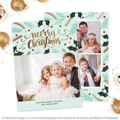 Christmas Card Template Photoshop Christmas Card Template