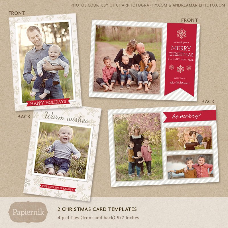 Christmas Card Template Photoshop Digital Shop Christmas Card Template for Photographers