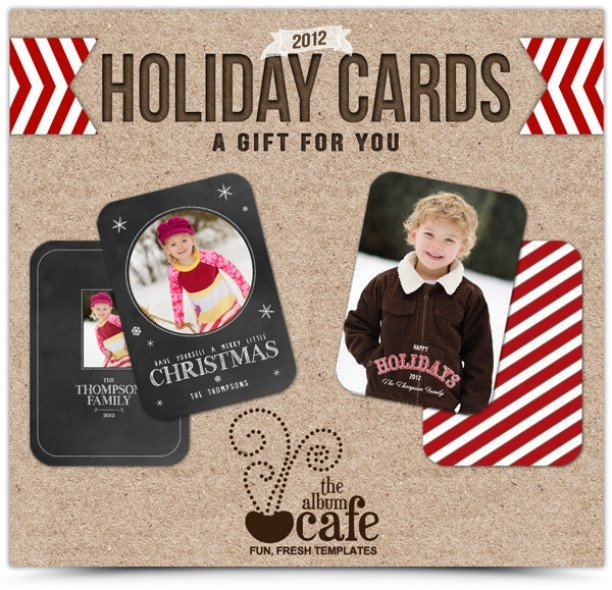 Christmas Card Template Photoshop Photo Free Christmas Card Shop
