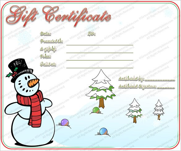 Christmas Card Template Word 20 Christmas Gift Certificate Templates Word Pdf Psd