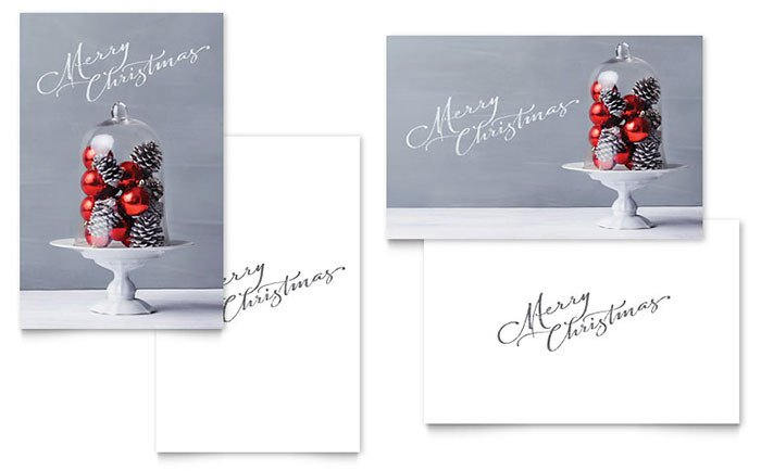 Christmas Card Template Word Christmas Display Greeting Card Template Word & Publisher