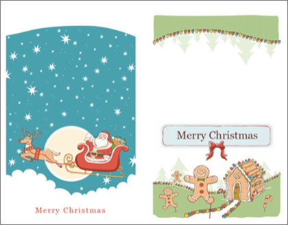 Christmas Card Templates Word Create Christmas and Holiday Cards Labels and More with