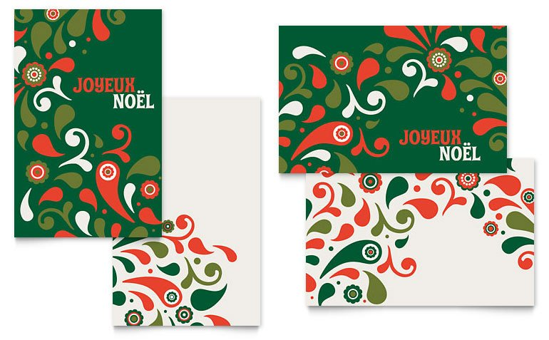 Christmas Card Templates Word Festive Holiday Greeting Card Template Word & Publisher